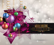 Christmas original modern background template Stock Images