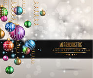 Christmas original modern background template Royalty Free Stock Images