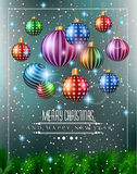 Christmas original modern background template Stock Photo