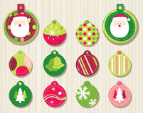 Christmas Ornament. New Year's decorations in different colors and designs set Stock Images