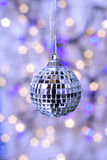 Christmas ornament. Mirror ball decoration for Christmas or New Year's stock photography