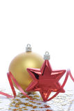 Christmas ornament. Decorative ornament on a white background Stock Photo