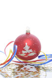 Christmas ornament. Decorative ornament on a white background Royalty Free Stock Photos