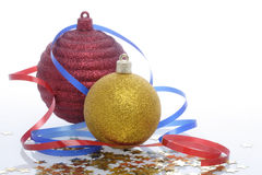 Christmas ornament. Decorative ornament on a white background Royalty Free Stock Images
