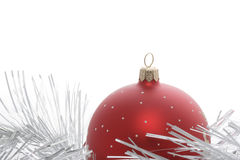 Christmas ornament. Decorative ornament on a white background Stock Images