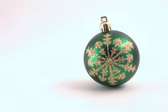 Christmas Ornament. On a pastel background Royalty Free Stock Photo