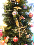 Christmas ornament. Christmas tree with colourful ornaments Stock Images