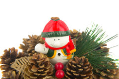 Christmas ornament. Isolated and snowman royalty free stock photography