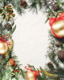 Christmas ornament. Christmas frame ornament for greeting card royalty free stock photography