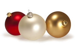 Christmas Ornament. S on white with path Royalty Free Stock Photo