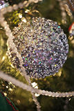 Christmas Ornament. Snowball  ornament at christmas season Royalty Free Stock Photos
