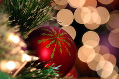 Christmas ornament. With blur lighting background royalty free stock photo