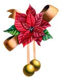 Christmas ornament. Christmas composition. Hand drawn illustration Stock Photography