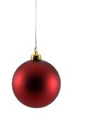 Christmas Ornament. Red christmas ornament isolated on a white background royalty free stock image