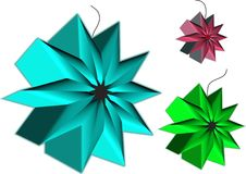 Christmas ornament in 3d. And various sizes and colors Royalty Free Stock Image