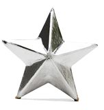 Christmas Ornament. Star shaped Christmas ornament isolated over white royalty free stock photos