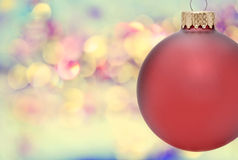Christmas Ornament. Abstract with bokeh background Stock Photography