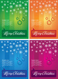 Christmas ornament background. A set of background illustrations with Christmas ornaments. Room for text available Stock Photography
