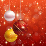 Christmas ornament  background card Stock Image