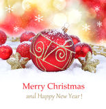 Christmas ornament background, Stock Image