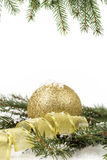 Christmas ornament background with fir branches Royalty Free Stock Image