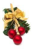 Christmas ornament with ball Stock Photo