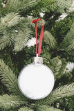 Christmas ornament ball pictures frame Stock Images