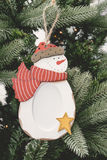 Christmas ornament ball pictures frame Stock Image
