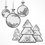 Christmas ornament ball tree decoration royalty free illustration