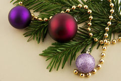 Christmas ornament with balls Stock Images