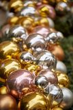 Christmas ornament balls. Very bright balls of christmas ornament royalty free stock photo