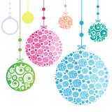 Christmas Ornament Balls on white background stock photography