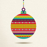 Christmas ornament bauble design in fun colors Stock Images