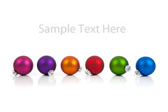 Christmas ornament/baubles with copy space Stock Images