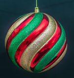 Christmas Ornament on Black Royalty Free Stock Image