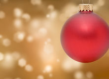 Christmas Ornament. With Bokeh Background Stock Photography