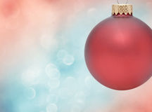 Christmas Ornament. With Bokeh Background Royalty Free Stock Images