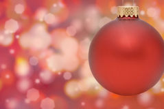 Christmas Ornament. With Bokeh Background Stock Photo