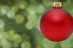 Christmas Ornament. With Bokeh Background Royalty Free Stock Photography
