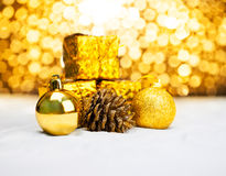 Christmas ornament with bokeh light Stock Image