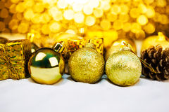 Christmas ornament with bokeh light Stock Images
