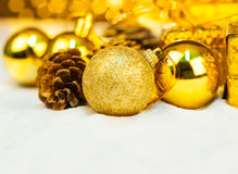 Christmas ornament with bokeh light Royalty Free Stock Photo