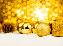 Christmas ornament with bokeh light Stock Photography