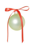Christmas Ornament With Bow Royalty Free Stock Photos