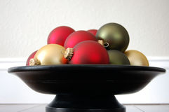 Christmas Ornament Bowl Stock Image