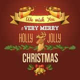 Christmas ornament card Royalty Free Stock Images