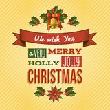 Christmas ornament card Royalty Free Stock Photos