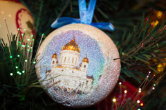 Christmas ornament The Cathedral of Christ the Saviour Royalty Free Stock Images