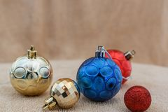 Christmas ornament. On brown background royalty free stock photography