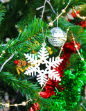 Christmas ornament on christmas tree Royalty Free Stock Images